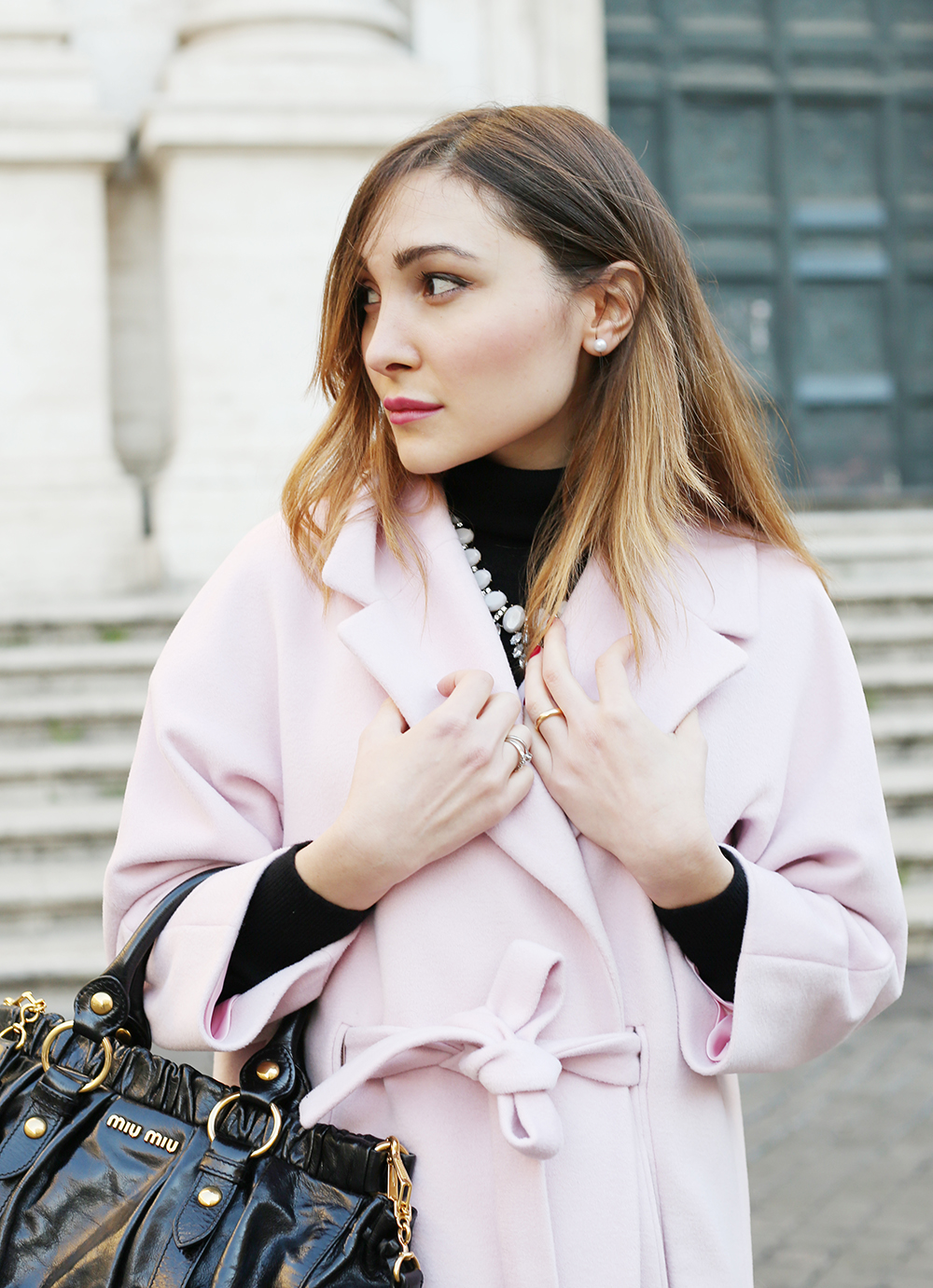 pink coat - cappotto rosa