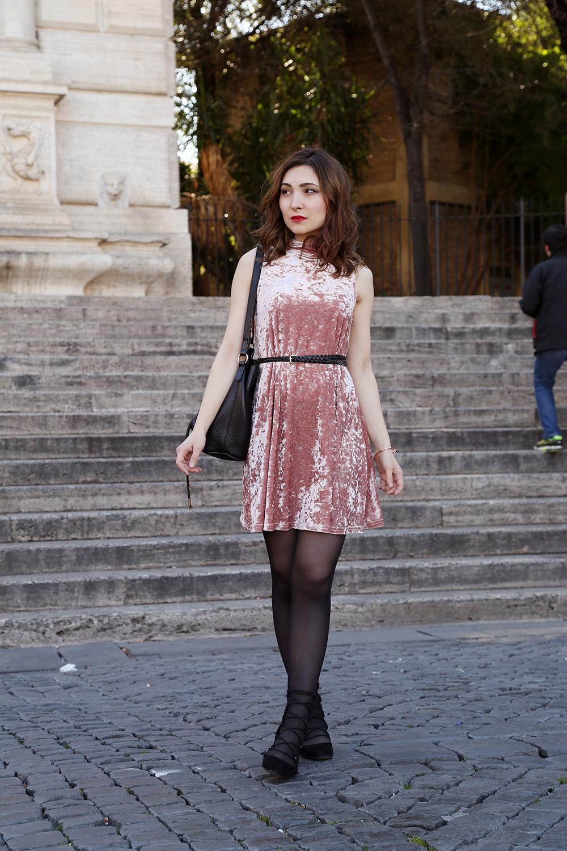 vestito di velluto