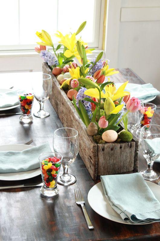 decorare la tavola per il pranzo di pasqua